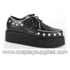 Creeper-416 Black/White Leather